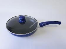 Сковорода AMY 24см  XJ-FP-24 синяя с тефлон.с крышкой (12 )