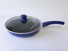 Сковорода AMY 26см  XJ-FP-26 синяя с тефлон с крышкой (12 )