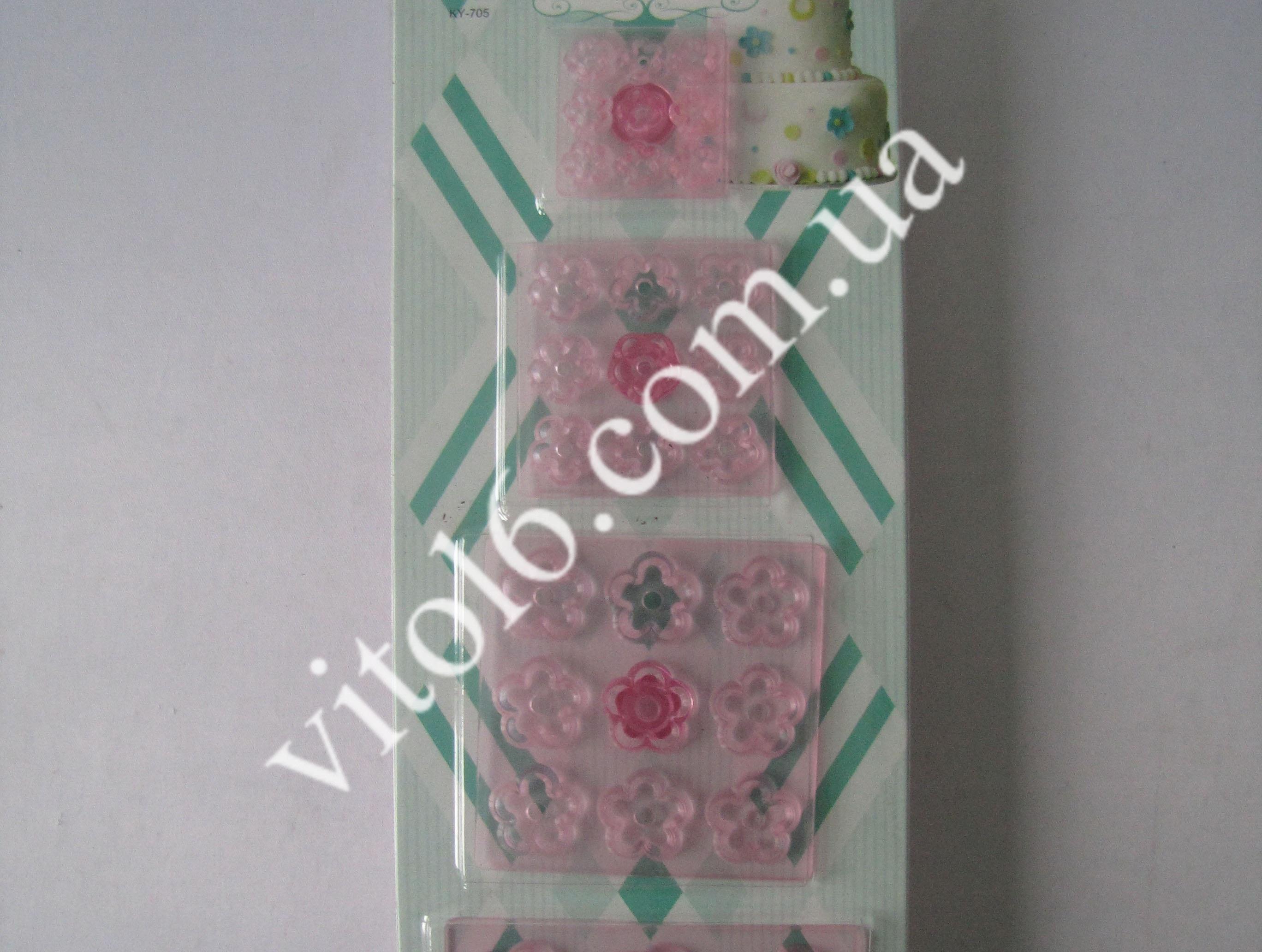 Плунжер пластм.прозр. Мелкие цветочки (4)VT6-17852
