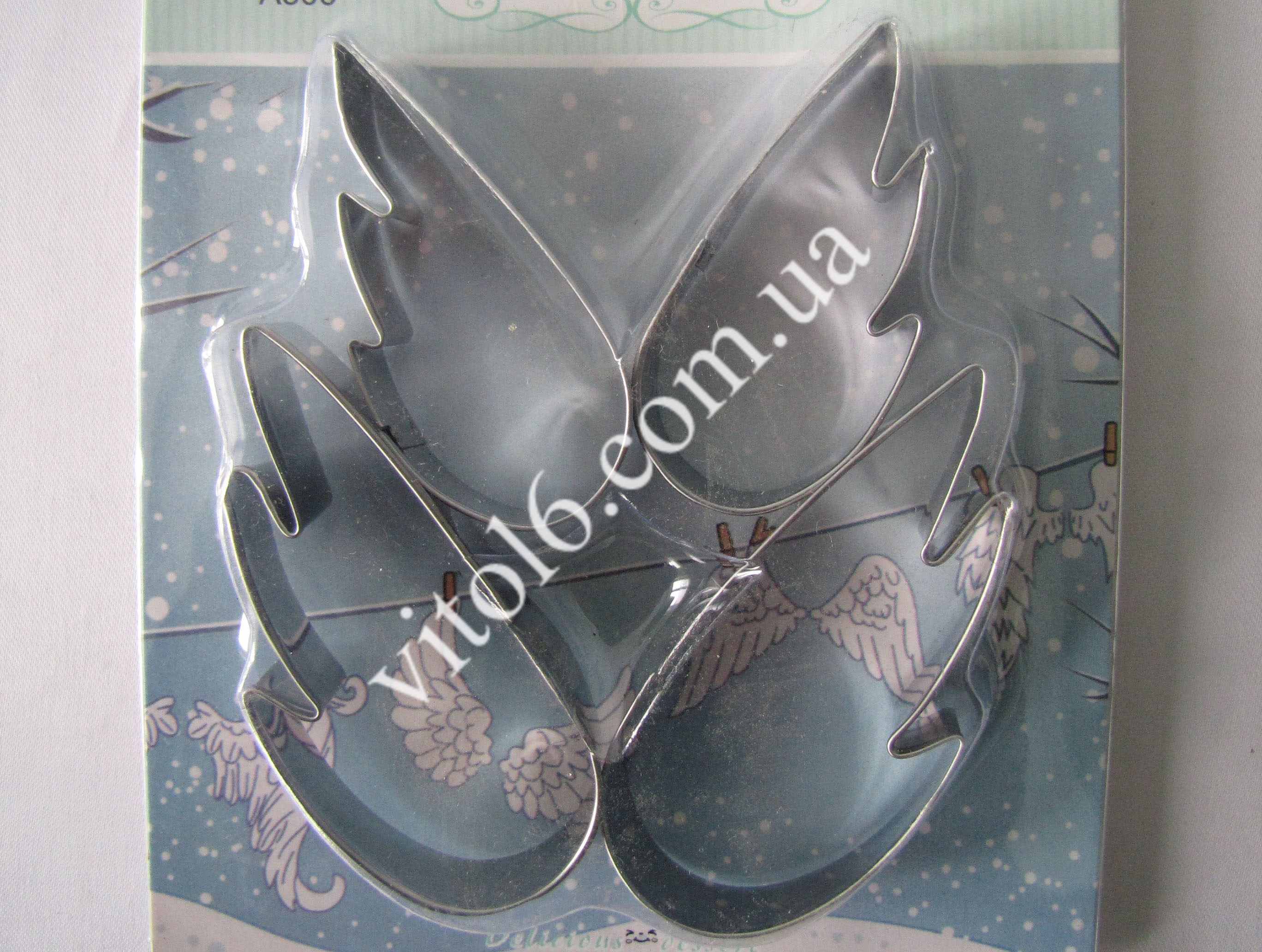 Форма кондит.металл из-4х  Крылья VT6-17377-1(240)