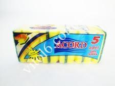 Губка  Accord  из 5-ти большая №521
