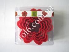 Форма пластм.10*3,5см из 5-ти Цветок VT6-17918