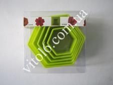 Форма пластм.8,5*3,5см из 5-ти Шестиугол VT6-17919