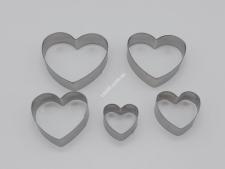 Форма метал.для випічки з 5-ти  Серце  8*1,5см VT6-17924(240)