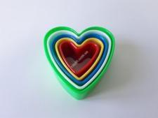 Форма пластм.8,5*3,2см з 5-ти  Серце  VT6-17931 (240шт)
