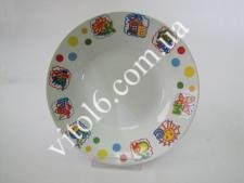 Тарелка  Азбука глубокая №8  8400 (72шт)