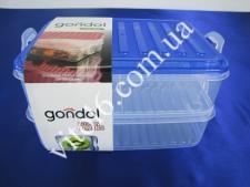 Судок-контейнер G-463  2х 1,6л  23х15,5х12,5 (12)