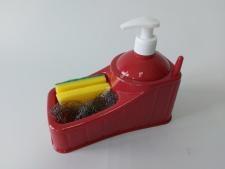 Стойка для мочалокс дозатором для мыла UR 3047(36)