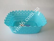 Сухарница ажурная  Элиф  прямоуг.  №117 (419)  LACE BASKET 26*18,5*10  (100 шт)