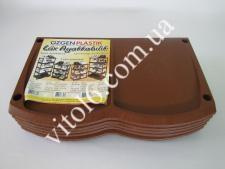 Полка обувная  INCI  коричневая 141 (6шт)