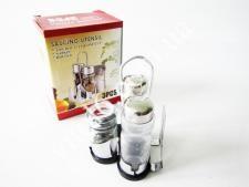 Набор для специй нерж(соль+перец+зубочистка+салфетн)VT6-18369(60шт)