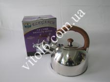 Чайник нерж. 3л коричневая ручка  VT6-18284(12шт)