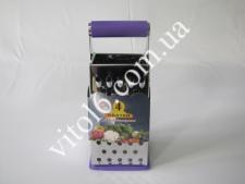 Тёрка 4-х гран нерж 24см с силикон.ручкой VT6-18261(96шт)