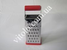 Тёрка 4-х гран нерж 22см с силикон.ручкой VT6-18264(144шт)