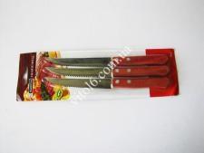Нож с дерев.ручкой в наборе из 3-х на планшете VT6-18730(240шт)