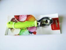 Ложка нерж для мороженного с силикон.ручкой (3цв)VT6-18758(144шт)