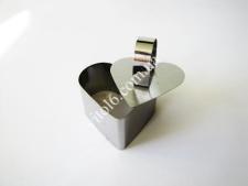 Форма нерж.для гарніру з виштовхувачем серце 4см VT6-18767 (288шт)