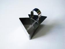 Форма нерж.для гарніру з виштовхувачем трикутна 4см VT6-18769 (288шт)