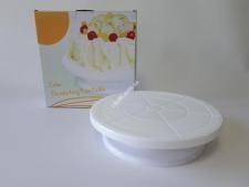 Стойка пластм для торта вращающ 28см VT6-18775(24шт)