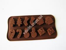 Форма силиконовая из 12-ти  Новогодняя  в упаковке VT6-18783(200шт)