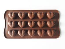 Форма силиконовая из 15-ти  Сердце  в упаковке VT6-18787(200шт)