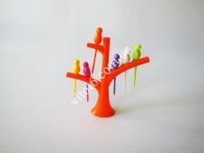 Стойка пластм. Дерево  для канапе с птичками VT6-18799(160шт)