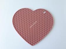 Подставка силиконовая под горячее Сердце  18см VT6-18817(288шт)