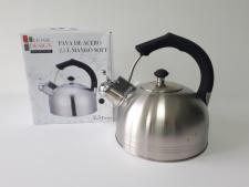 Чайник нерж. матовый 2,5л с чёрной ручкой Pava de acero VT6-18916(4шт)