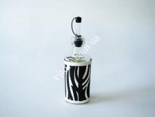 Ёмкость стекл. для масла 19см  Зебра 0,25л VT6-19074(48шт)