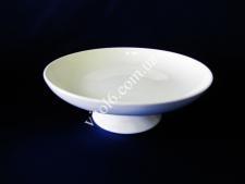 Тарілка керамічна біла глибока на ніжці О20см VT6-18645(24шт)