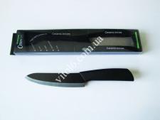 Нож керамический чёрный с наконечником 27,5см с ручкой №3  VT6-18846(120шт)
