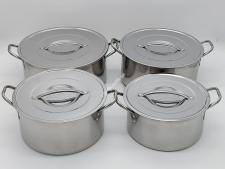 Набор кастрюль нерж из 4-х низкие 4л,5л,6л,7л   VT6-18918(8шт)