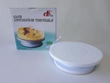 Стойка для торта пластм О27,5см на силикон.дномVT6-19015(24шт)