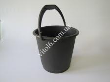 Ведро чёрное пластм. 10л. 08625 (50шт)