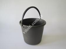 Ведро чёрное пластм. 8л. 08635 (50шт)
