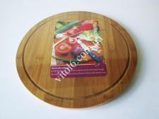 Доска деревянная для пиццы О34см VT6-19038(36шт)