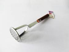 Толкушка нерж 0943 с деревян ручкой 30,5см VT6-19219(200шт)