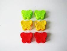 Форма силиконовая в наборе из 6-ти 7,5см Бабочки VT6-19222(192шт)