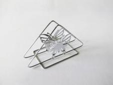 Серветниця нерж трикутна  Метелик 13,5см VT6-19229(300шт)