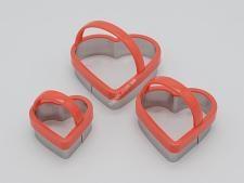 Форма кондит нерж  Серце  в наборі з 3-х з ручкою 8см VT6-19238 (144шт)