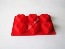 Форма силіконова на планшеті  Серце  29*17*4,5см VT6-19295(150шт)