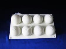 Форма силикон. для муссовых тортов на планшете(8шт) Полусферы XY-C185  30*17,5*5см VT6-19455(100шт)
