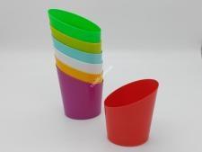 Дозатор для рiдкого мила кольоровий в горошок   IND064 450 мл (96шт)