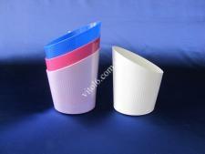 Кружка пласт.д/молочного пакета  Конус  (40шт)