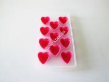 Форма пластм+силикон  для льда 11*22  Сердце VT6-19523(200шт)