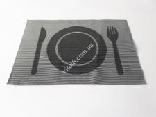 Салфетка под тарелку черная 30*45 VT6-19726(300шт)