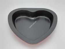 Форма тефлон черная Сердце  23*22,5*3,5см VT6-19732(100шт)