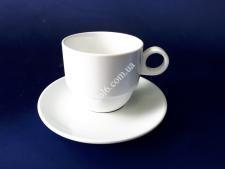 Чашка керам.біла з блюдцем 320мл О9,5h8cм (блюдце О17см)VT6-19855(48шт)