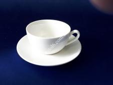 Чашка керам.белая с блюдцем 130мл О8,5 h5см VT6-19892(60шт)