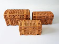 Скринька в наборі з 3-х  Косичка  ALY303 (12шт)